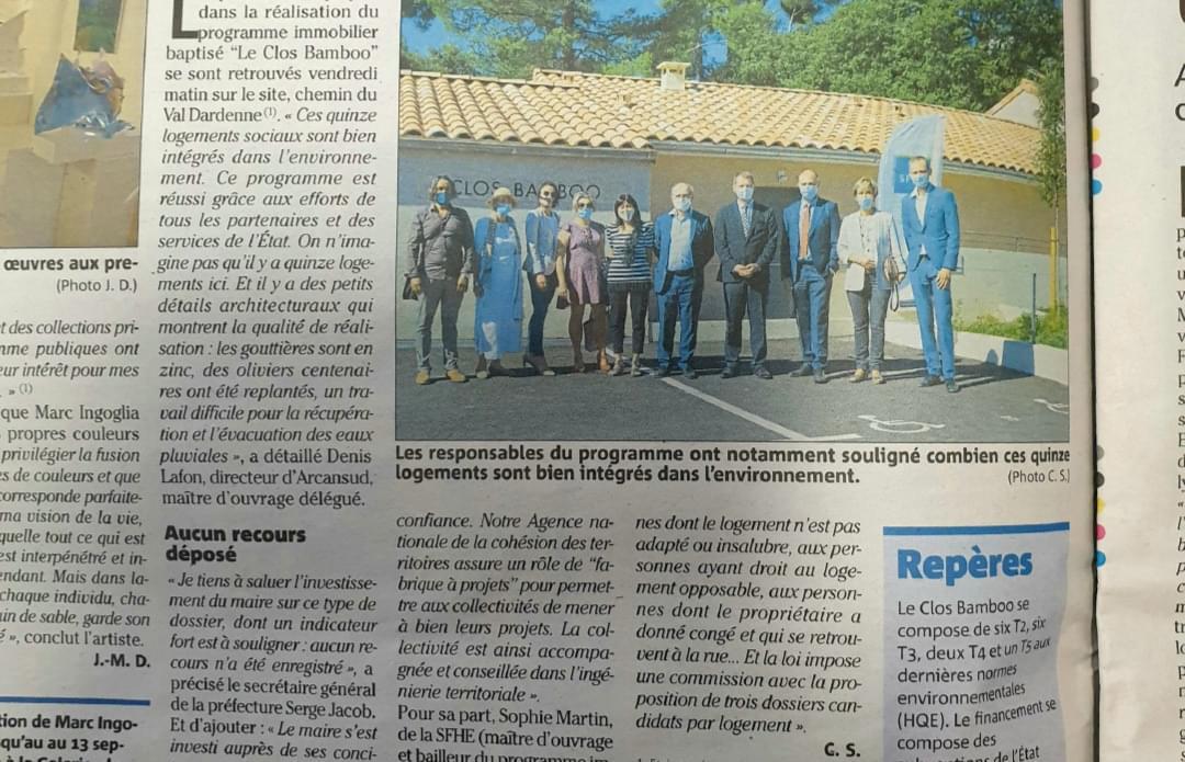 Visite du programme «Le Clos Bamboo» - Revest-les-Eaux (83)